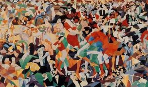 Extract The Dance of the Pan-Pan at the Monico by Gino Severini